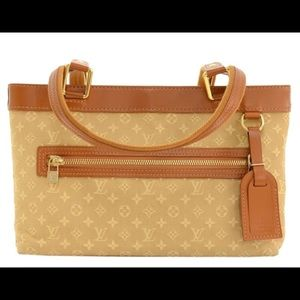 Louis Vuitton  Beige Mini Lin Lucille PM